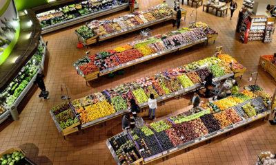 supermarket, bolt, bevásárlóközpont, étel, gyümölcs